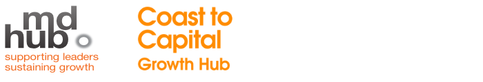 Logos for MDHUB and Coast to Capital Growth fund