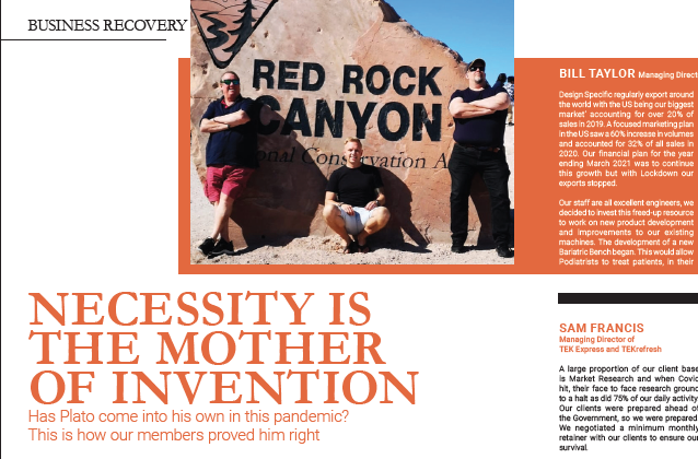 Necessity is the Mother of Invention Platinum Business Magazine