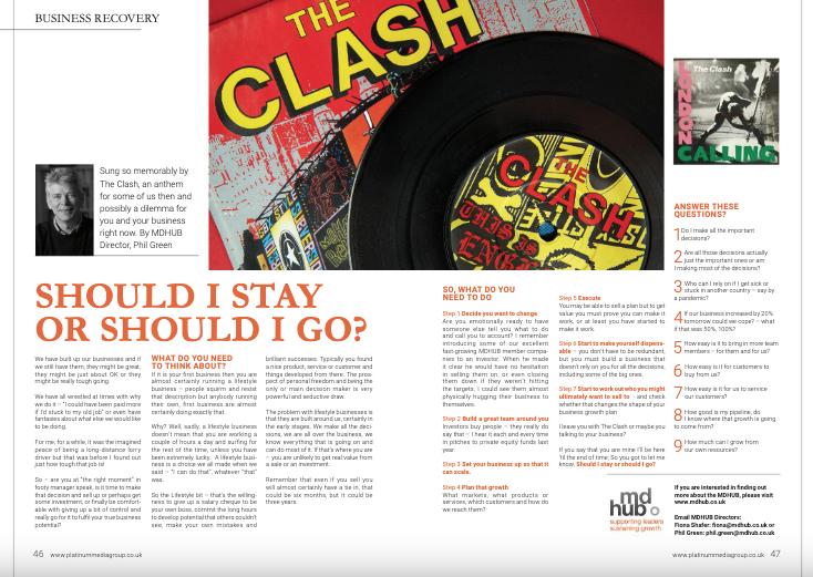 Should I stay or should I go - Platinum Business Magazine