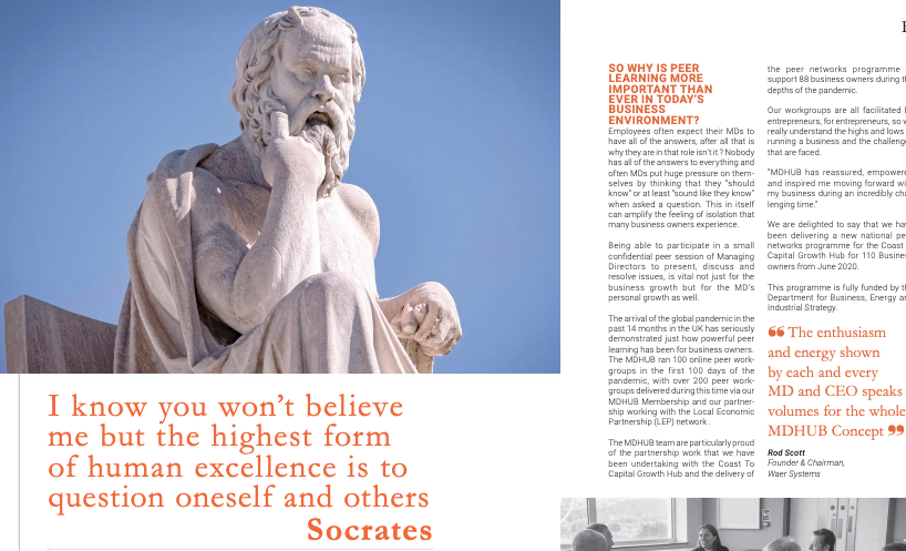 I know you won't believe me but the highest form of human excellence is to question oneself and others - Socrates - Platinum Business Magazine
